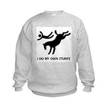 Horse I Do My Own Stunts Sweatshirt