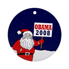 Santa for Obama 2008 Xmas Ornament