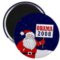 """Santa for Obama 2008 2.25"""" Magnet (100 pack)"""