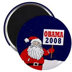 Santa for Obama 2008 Magnet