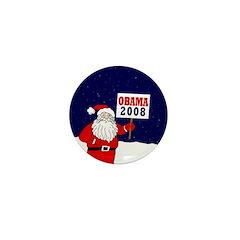 Santa for Obama 2008 Mini Button (100 pack)