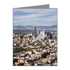 Overview of Mexico City, Mex Note Cards (Pk of 10)