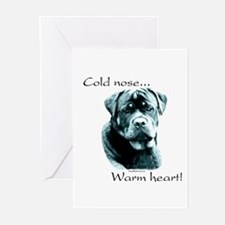 Poodle Warm Heart Greeting Cards (Pk of 10)