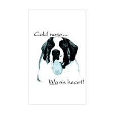 Saint Warm Heart Rectangle Decal