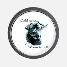 Saluki Warm Heart Wall Clock