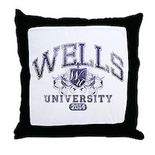 Wells Last Name University Class of 2014 Throw Pil