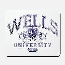 Wells Last Name University Class of 2014 Mousepad