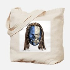 Braveheart Skull With Hair Tote Bag