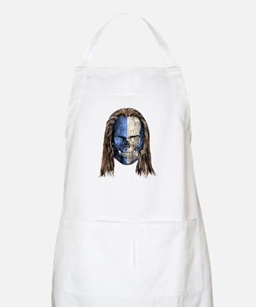 Braveheart Skull With Hair BBQ Apron