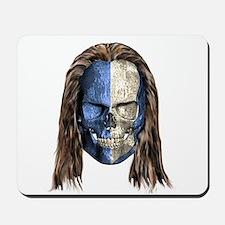 Braveheart Skull With Hair Mousepad