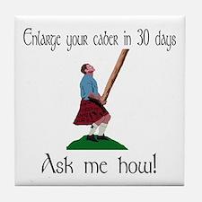 Enlarge your caber... Tile Coaster