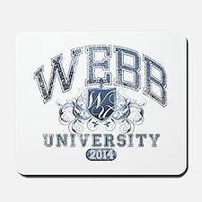 Webb Last Name University Class of 2014 Mousepad