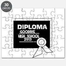 Diploma . Goodbye High School 2013 Puzzle