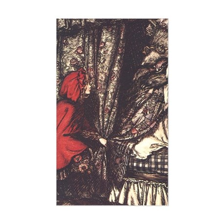 Rackham's Red Riding Hood Rectangle Sticker