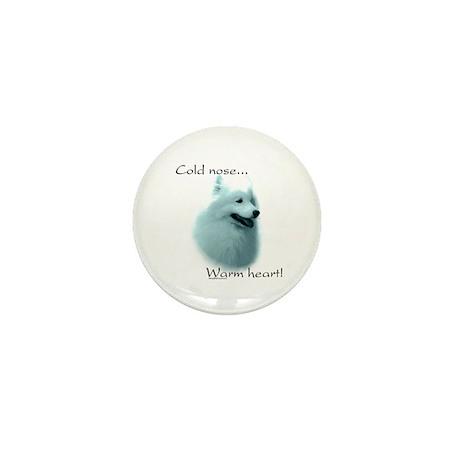 Samoyed Warm Heart Mini Button