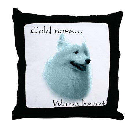 Samoyed Warm Heart Throw Pillow