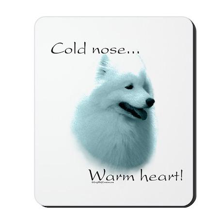 Samoyed Warm Heart Mousepad
