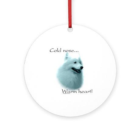 Samoyed Warm Heart Ornament (Round)