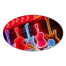 Illuminated guitars on Beale Street Decal