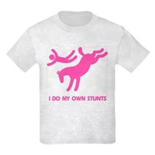 Pink Bucking Horse 'Stunts' Kids T-Shirt