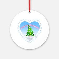 """Merry Kissmas!"" Ornament (Round)"