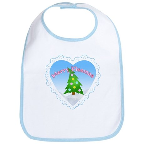 """Merry Kissmas"" Baby Bib"