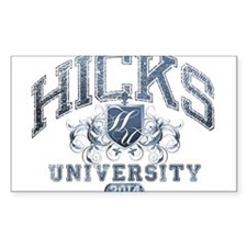 Hicks Last Name University Class of 2014 Decal