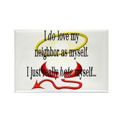 Love Thy Neighbor Rectangle Magnet (100 pack)