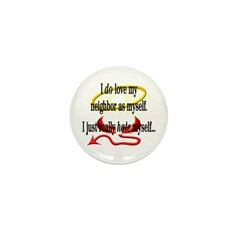 Love Thy Neighbor Mini Button (10 pack)