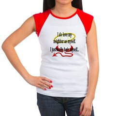 Love Thy Neighbor Women's Cap Sleeve T-Shirt
