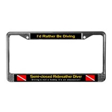 Semi-Closed Rebreather Diver, License Plate Frame