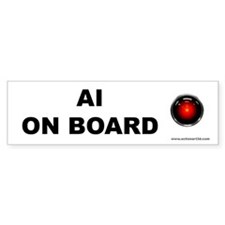 AI on Board Bumper Bumper Sticker