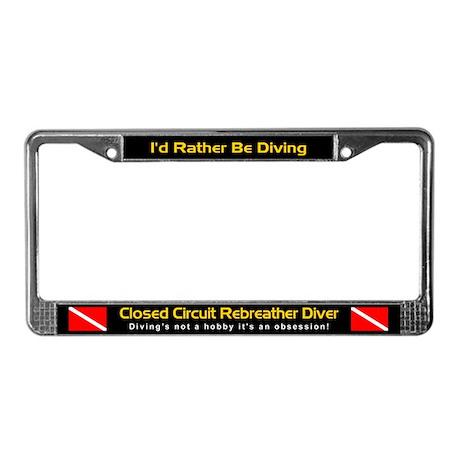 CC Rebreather Diver, License Plate Frame