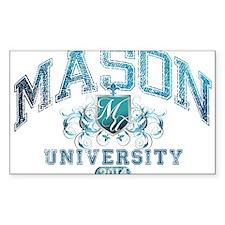 Mason Last Name University Class of 2014 Decal