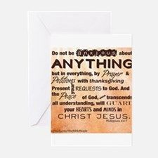 Philippians 4:6-7 Greeting Cards (Pk of 10)