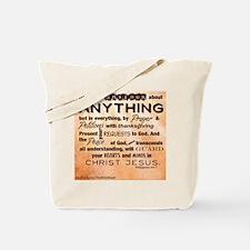 Philippians 4:6-7 Tote Bag