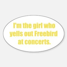 Freebird! Girl Gear Oval Decal