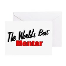 """""""The World's Best Mentor"""" Greeting Cards (Package"""