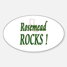 Rosemead Rocks ! Oval Decal
