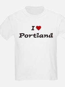 I HEART PORTLAND Kids T-Shirt