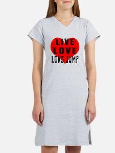 Live Love Long Jump Women's Nightshirt