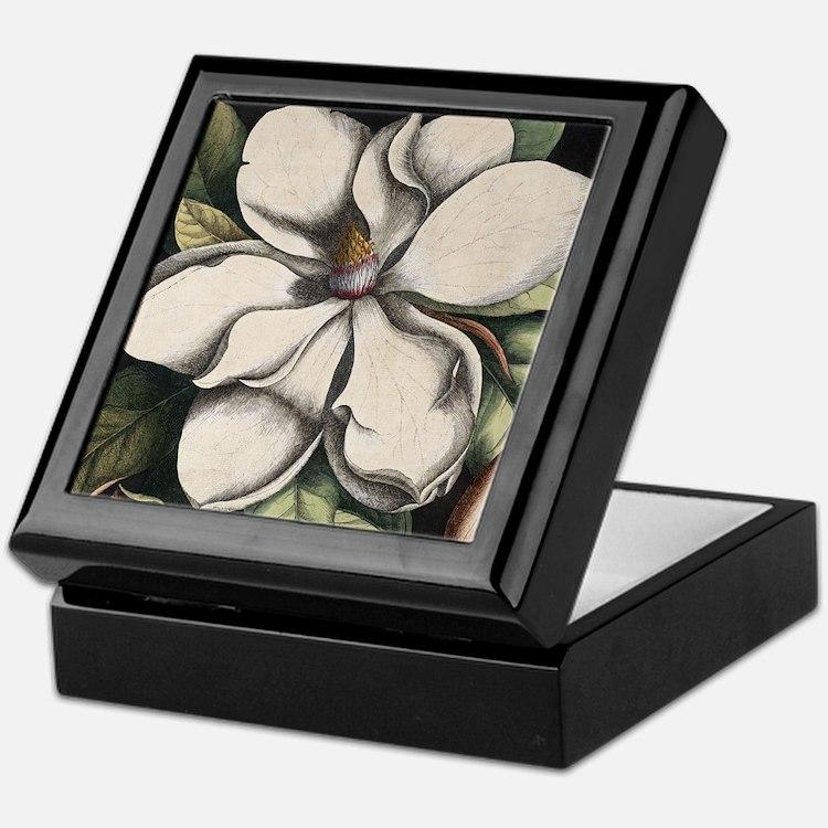 Vintage Magnolia Keepsake Box