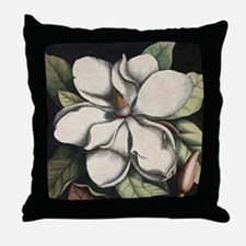 Vintage Magnolia Throw Pillow
