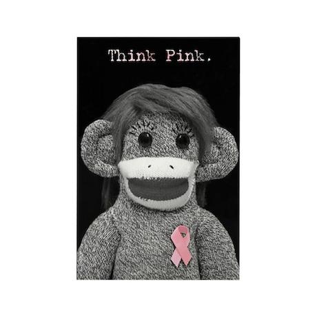 Think Pink Emma Rectangle Magnet