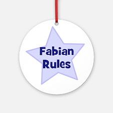 Fabian Rules Ornament (Round)