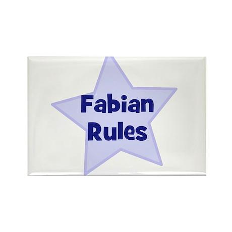 Fabian Rules Rectangle Magnet
