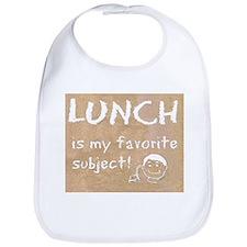 Lunch is My Favorite Subject Bib