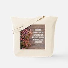 Romans 8:1 Tote Bag