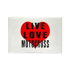 Live Love Motocross Rectangle Magnet
