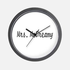 Mrs. McDreamy Wall Clock